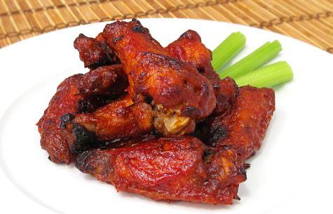 Alitas de pollo muy picantes