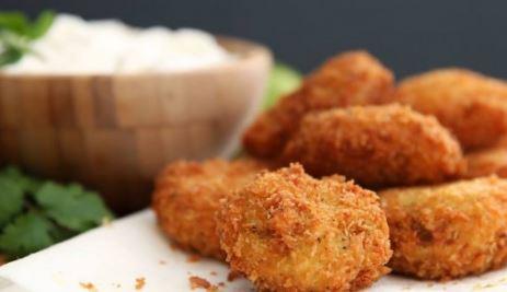 Receta de aros de cebolla con pollo