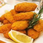 Arroz frito relleno con pollo