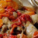 Cazuela de pollo y pimientos