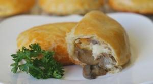 Empanadas de pollo con champiñones