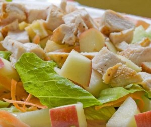 Ensalada con pollo bajas calorías