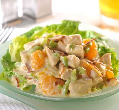Receta de Ensalada de pollo y naranjas