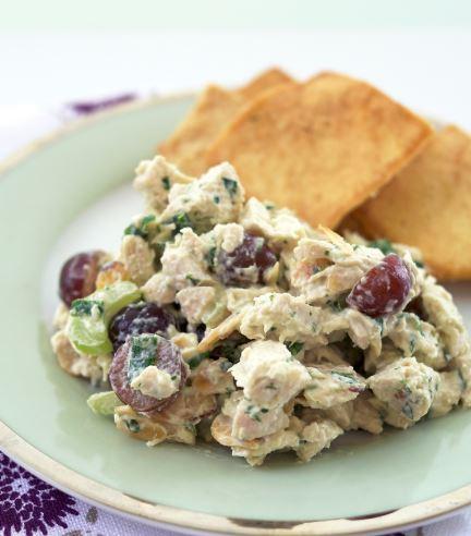 Receta de Ensalada de pollo y uvas frescas