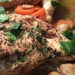 Receta de Estofado de pollo y champiñones
