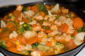 Estofado rápido de pollo y zanahorias