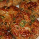 Receta de Hamburguesas de pollo y cebolla de verdeo