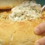 Receta de Pan de campo relleno con pollo