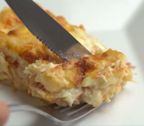 Receta de Pastel cremoso de pollo fácil