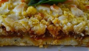 Pastel de pollo y polenta