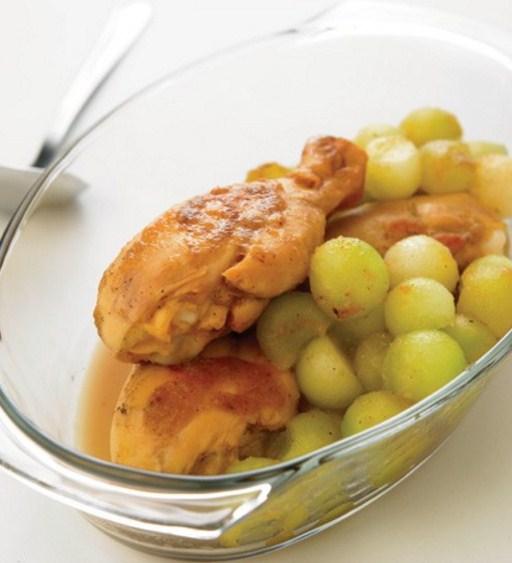 Receta de Patas de pollo con melón