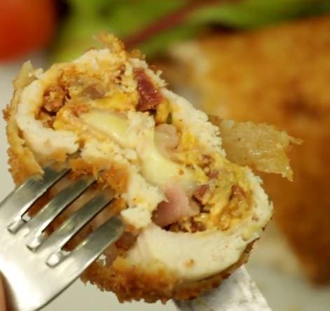 Receta de Pechugas de pollo con queso cheddar