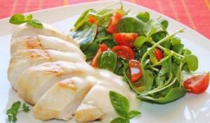 Pechugas de pollo con salsa blanca