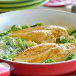 Pechugas de pollo en crema de brócoli