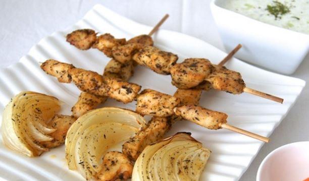 Pinchos de pollo al horno