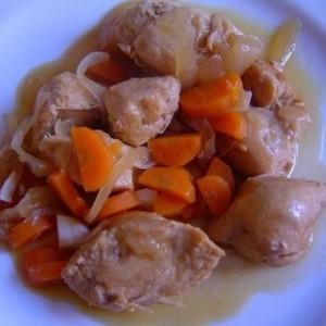 Pollo a la vinagreta casero