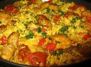 Receta de Pollo al disco con arroz