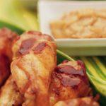 Pollo asado con mantequilla de maní