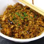 Pollo con arroz y jengibre
