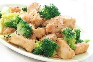 Pollo con brócoli bajas calorías