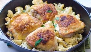 Pollo con coliflor