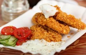 Pollo con hojuelas de maiz