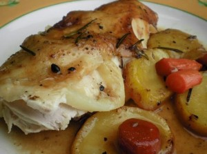 Pollo con pimienta negra