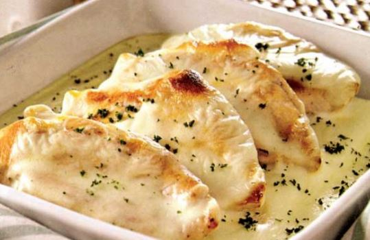 Receta de Pollo con queso crema