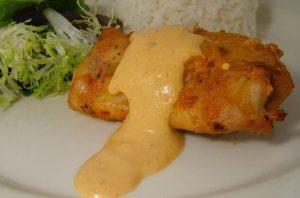Pollo con salsa de chipotle