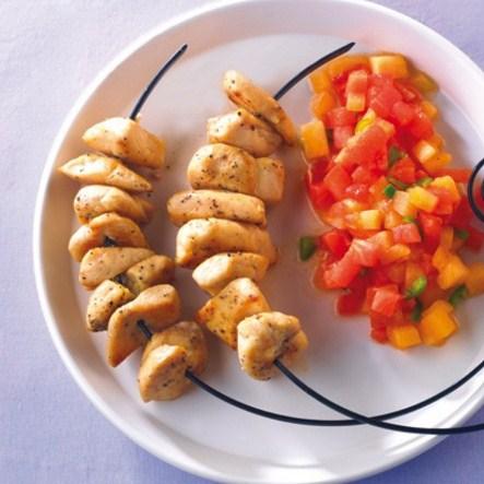 Pollo con salsa de frutas