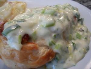 Pollo con salsa de verdeo