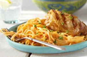 Pollo con spaghetti