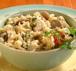 Pollo cremoso con arroz