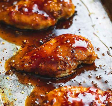 Receta de Pollo dulce y picante