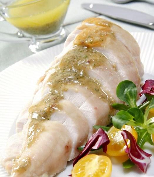 Receta de Pollo en salsa de anchoas