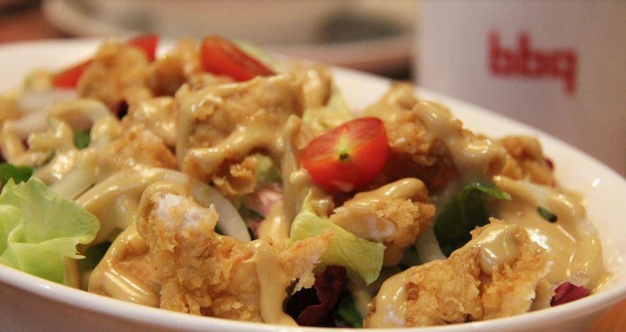Receta de Pollo frito con salsa de ajo