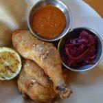 Receta de Pollo frito con salsa de maní picante