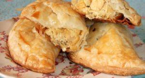 Receta de empanadas de pollo y roquefort