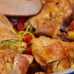 Receta de pollo al horno con papas