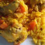 Receta de pollo con arroz amarillo