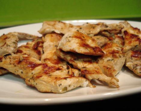 Receta de pollo grille light
