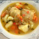 Receta de pollo hervido con verduras