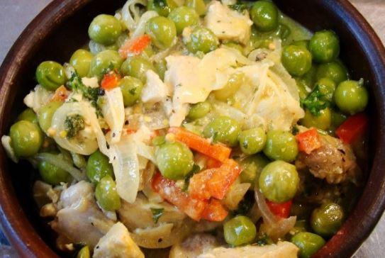 Receta pollo arvejado recetas de pollo - Hacer menestra de verduras ...