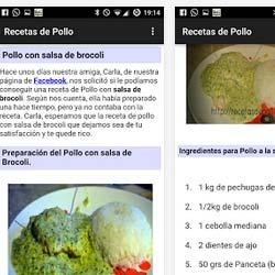 Has instalado la aplicación Android re recetas de Pollo ?