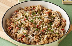 Risotto de quinoa y pollo