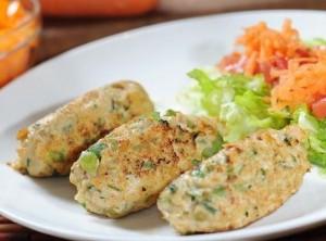 Rollitos de pollo y cilantro