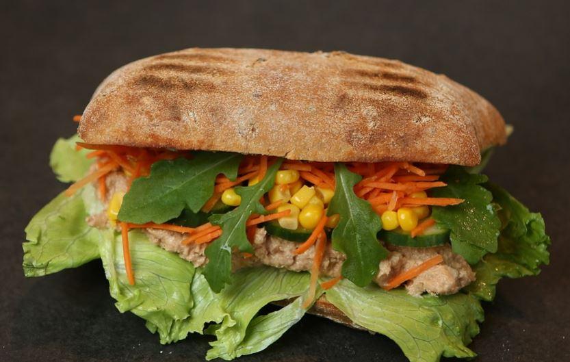 Receta de Sándwich integral de pollo