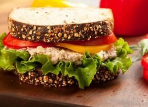 Sandwich de pollo bajas calorías