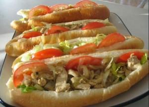 Sandwich de pollo para niños