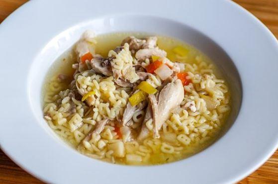Receta de Sopa de letras con pollo